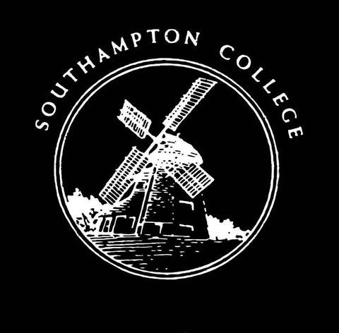 Southampton College Baseball Jersey Long Sleeve Tee White Print