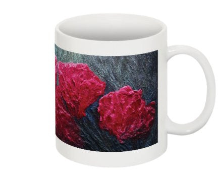 "Mug Featuring the Red Flowers of ""Transcendence"" by BA Wygant"