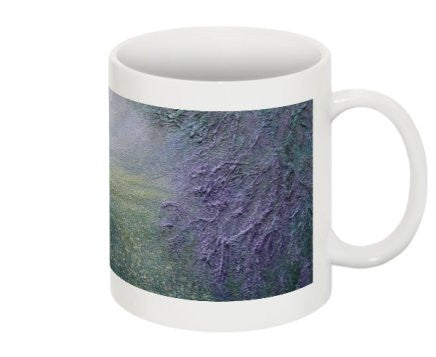 "Mug Featuring the Yellow Flowers of ""The Path"" by BA Wygant"