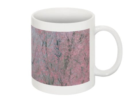 "Mug Featuring the Pink Flowers of ""Harmony"" by BA Wygant - BA Wygant Studio 