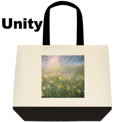 Two-Tone Deluxe Tote Bag - BA Wygant Studio | Abstract Spiritual Contemporary Art