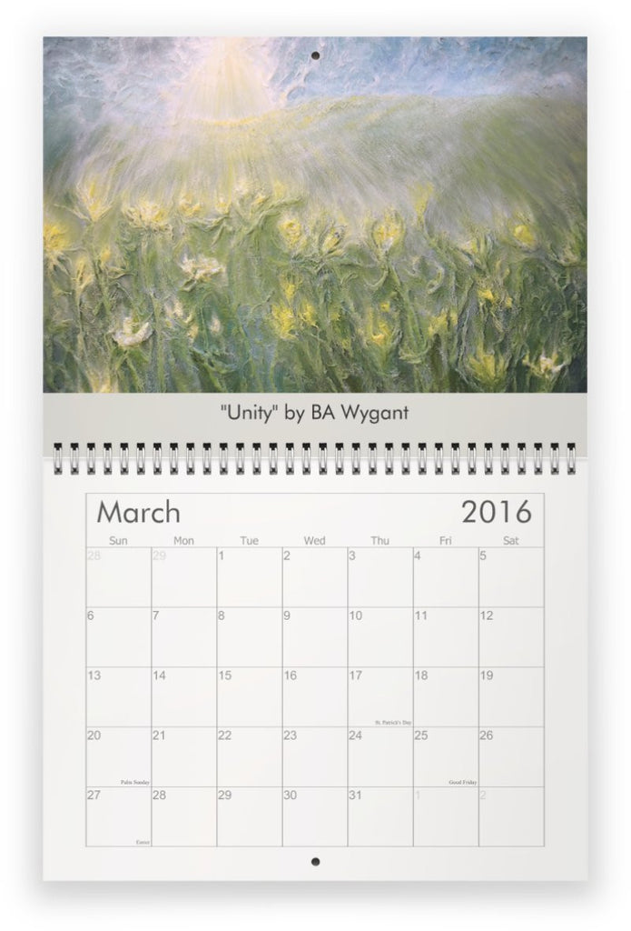 2016 Wall Calendar by BA Wygant Studio - BA Wygant Studio | Abstract Spiritual Contemporary Art