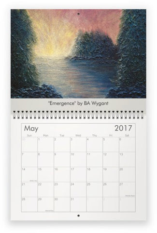 2017 Wall Calendar by BA Wygant Studio