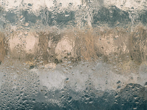 Water condensation on a window
