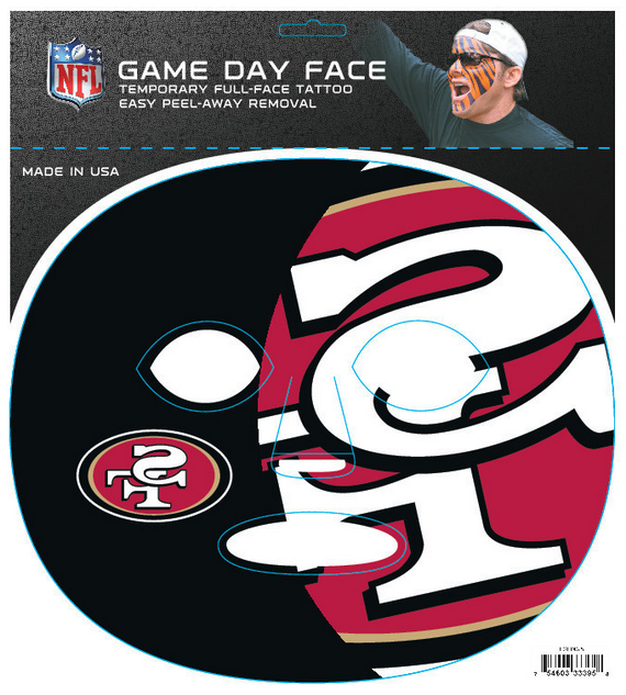 San Francisco 49ers 3395 - Full Face Tattoo