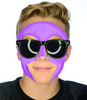 #9006 Purple Game Day Face - Full Face Sticker