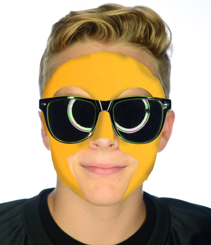 #9007 Gold Game Day Face - Full Face Sticker