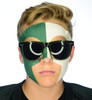 #9033 Green/White Game Day Face - Full Face Sticker