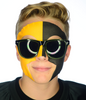 #9037 Gold/Black Game Day Face - Full Face Sticker
