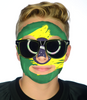 Brazil Game Day Face #9204 - Full Face Sticker