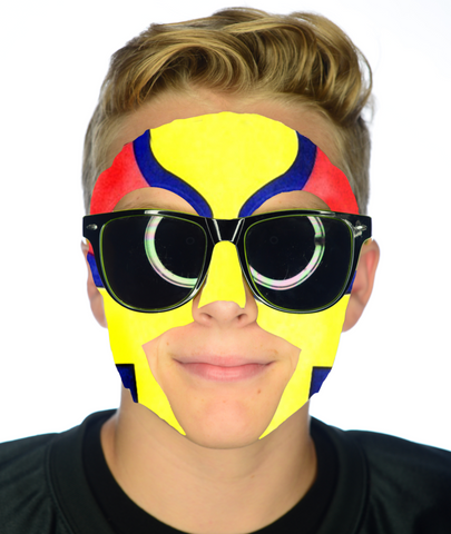 #9205 Colombia Game Day Face