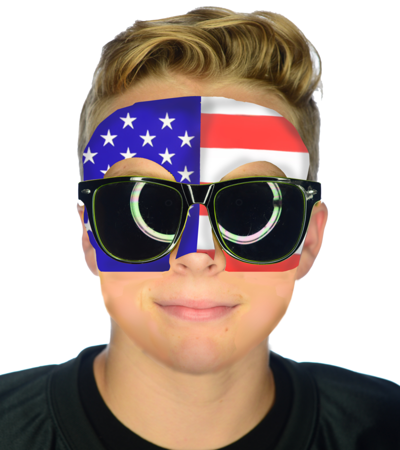 USA Fan Face #9300 - Half Face Sticker