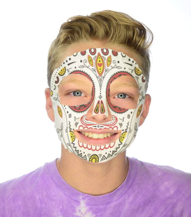 #9809 Day of the DeadMask - Full Face Sticker