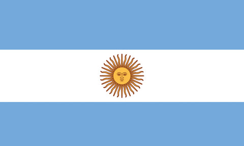 "Argentina 1.5"" x 2.5"" - Flag Face Sticker"