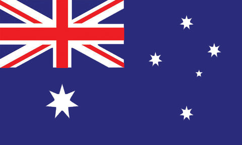 "Australia 1.5"" x 2.5"" - Flag Face Sticker"