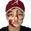 Alabama Crimson Tide-Full Face Tattoo