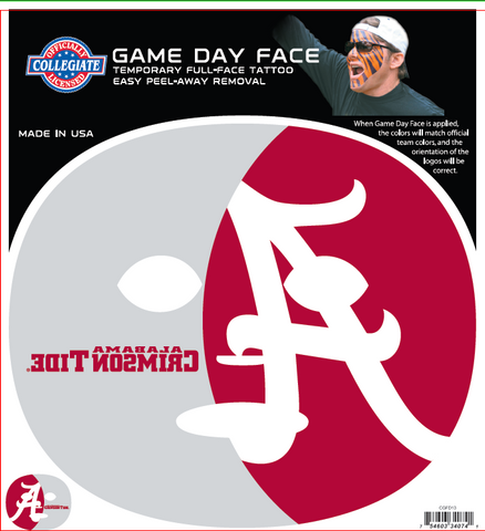 Alabama Crimson Tide 4074 - Full Face Tattoo
