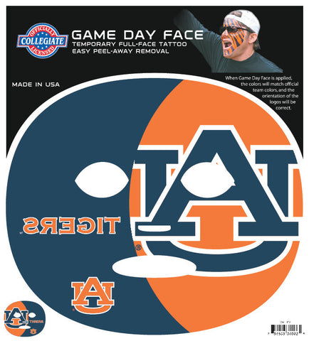Auburn Tigers 4092 - Full Face Tattoo