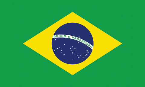 "Brazil 1.5"" x 2.5"" - Flag Face Sticker"