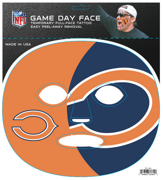 Chicago Bears-Full Face Tattoo