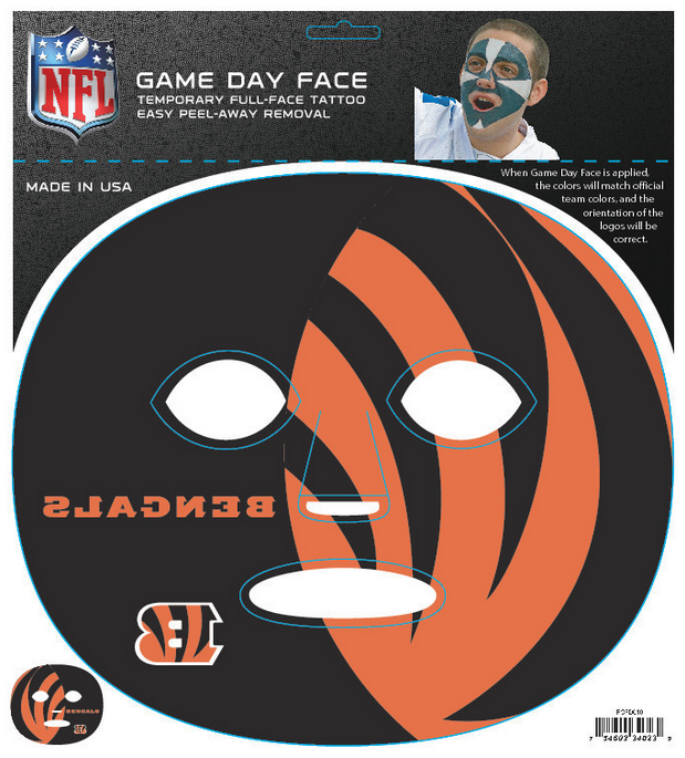 Cincinnati Bengals 4023 - Full Face Tattoo