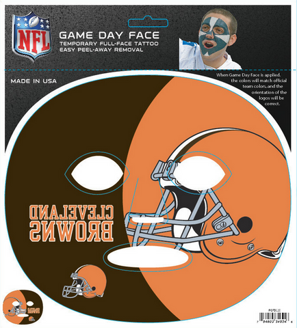 Cleveland Browns 4024 - Full Face Tattoo