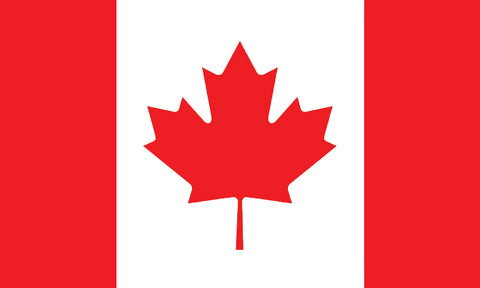 "Canada 1.5"" x 2.5"" - Flag Face Sticker"