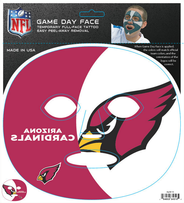 Arizona Cardinals 4016 - Full Face Tattoo