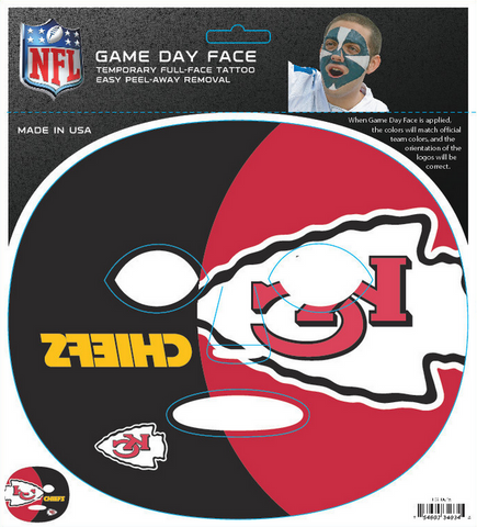 Kansas City Chiefs 4034 - Full Face Tattoo