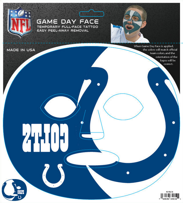 Indianapolis Colts-Full Face Tattoo