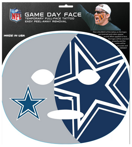 Dallas Cowboys-Full Face Tattoo