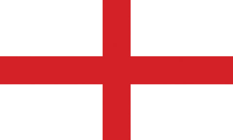 "England 1.5"" x 2.5"" - Flag Face Sticker"