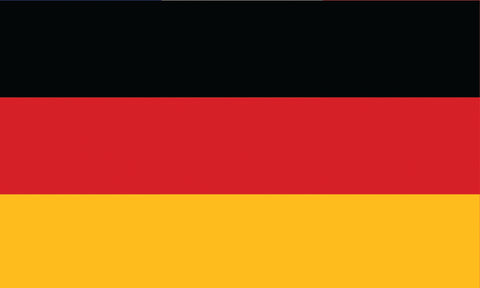 "Germany 1.5"" x 2.5"" - Flag Face Sticker"