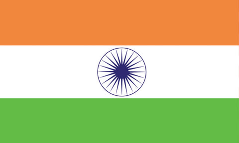 "India 1.5"" x 2.5"" - Flag Face Sticker"