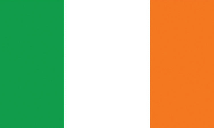 "Ireland 1.5"" x 2.5"" - Flag Face Sticker"