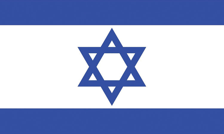 "Israel #1012 1.5"" x 2.5"" - Flag Face Sticker"