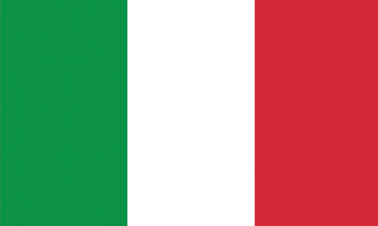 "Italy 1.5"" x 2.5"" - Flag Face Sticker"