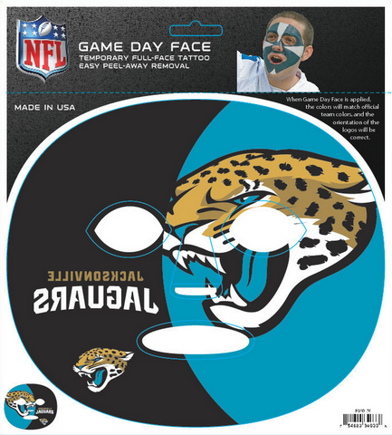 Jacksonville Jaguars 4033 - Full Face Tattoo