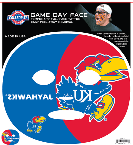 Kansas University Jayhawks 8113 - Full Face Tattoo