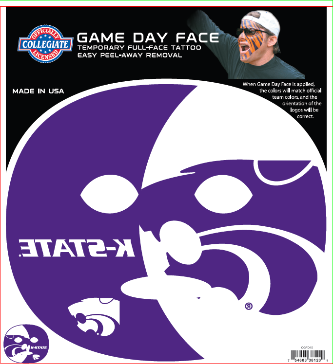 Kansas State Wildcats-Full Face Tattoo