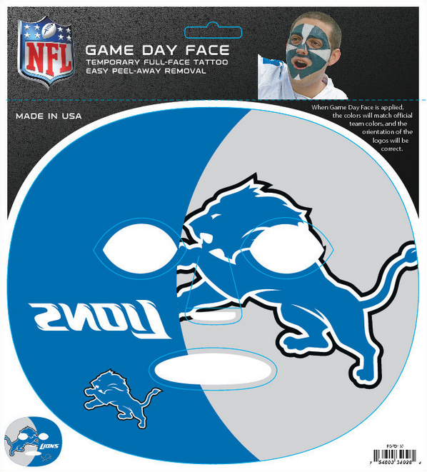 Detroit Lions 4028 - Full Face Tattoo