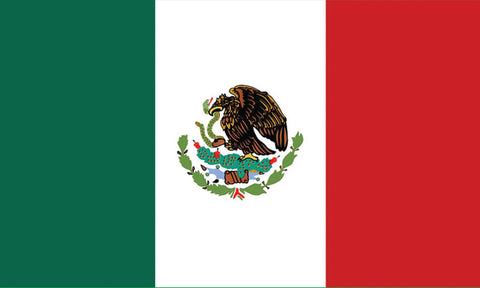 "Mexico 1.5"" x 2.5"" - Flag Face Sticker"