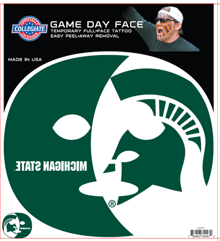 Michigan State Spartans 4097 - Full Face Tattoo