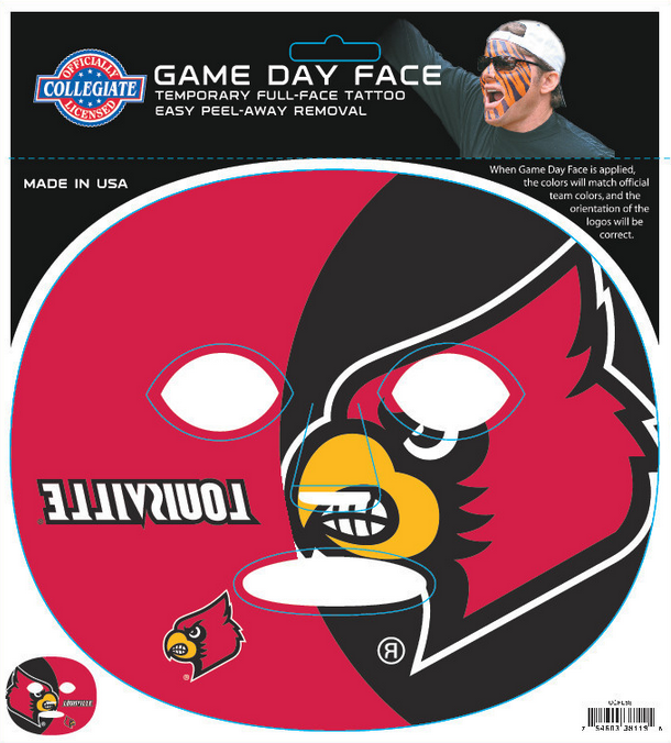 Louisville Cardinals 8119 - Full Face Tattoo
