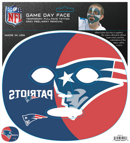 New England Patriots 4037 - Full Face Tattoo