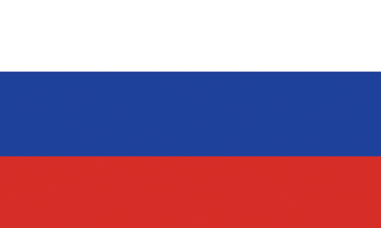 "Russia #1016 1.5"" x 2.5"" - Flag Face Sticker"