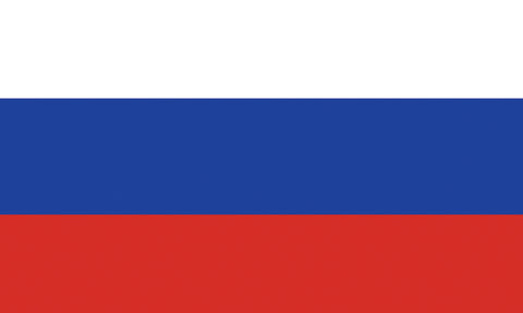 "Russia 1.5"" x 2.5"" - Flag Face Sticker"
