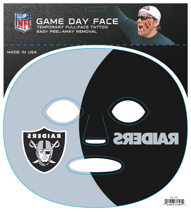 Oakland Raiders 3393 - Full Face Tattoo