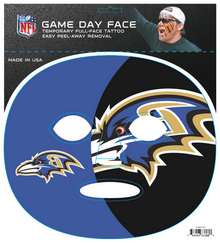 Baltimore Ravens 3388 - Full Face Tattoo
