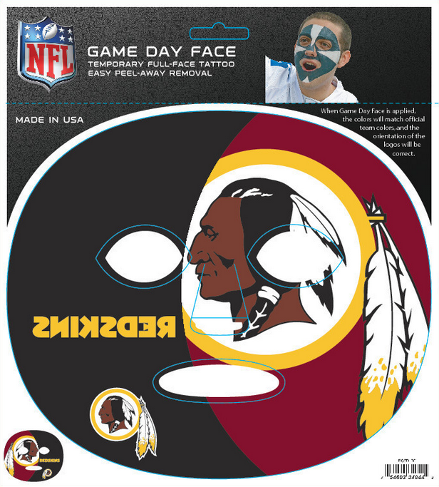 Washington Redskins 4044 - Full Face Tattoo